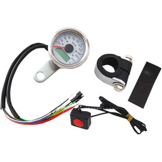 Electronic Speedometer (Indicator Lights) / White Face